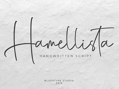 Hamellista - Handwritten Script Font vector ui illustration font lettering typography type logo design branding
