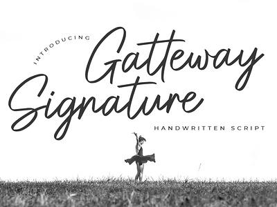Gatteway Signature Fonts illustration vector font design lettering typography type logo design branding font