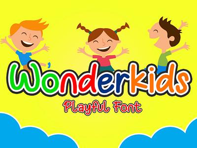 Wonderkids - Playful Font popular design new popular font design font typography type logo design branding