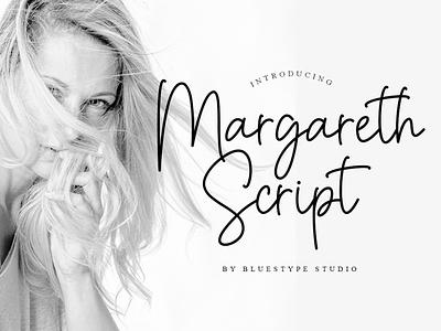 Margareth Script vector font design ui illustration font lettering typography type logo design branding