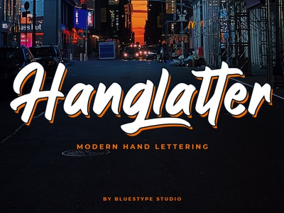 Hanglatter - Modern Calligraphy Font illustration vector font design branding font typography logo type design lettering