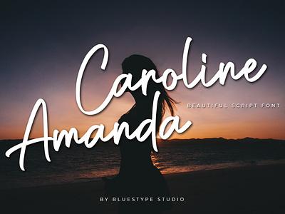 Caroline Amanda Free Font illustration handwritten font design lettering typography type design font