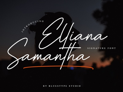 Elliana Samantha - Signature Font logo illustration handwritten design type typography branding font