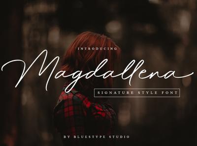 Magdallena - Signature Font