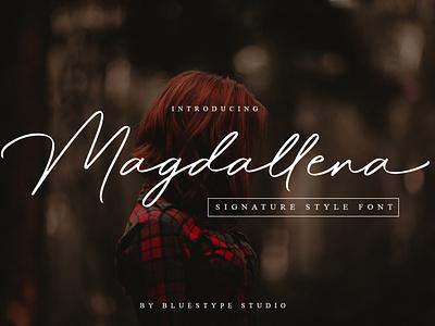 Magdallena - Signature Font vector logo signature handwritten font design lettering font design branding type typography