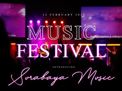 Music Festival Cover app web lettering font design illustration font type logo branding design typography