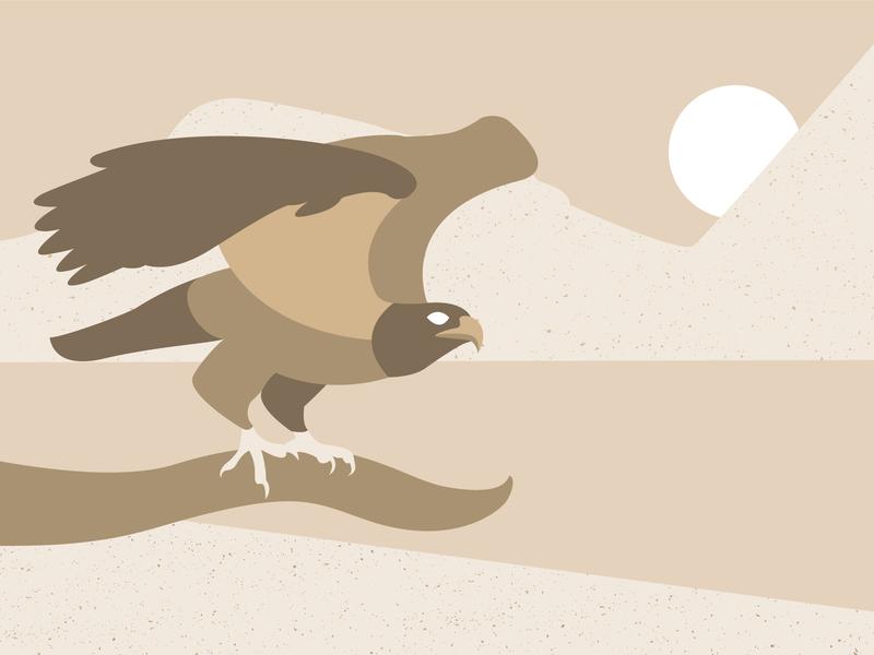 Brown Eagle bird eagle flat design vector illustration
