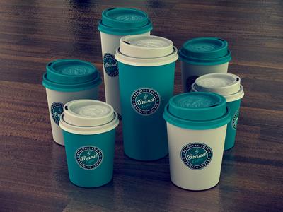 3D Branding & Designs (Coffee cup)