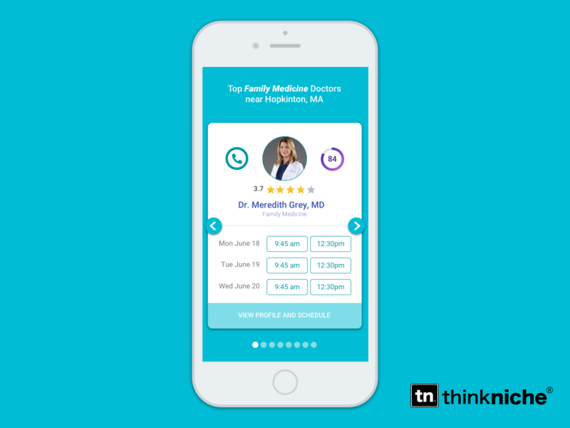 Schedule Appointment - Doctors appointment booking card profile doctor ios mobile medical schedule app ux branding
