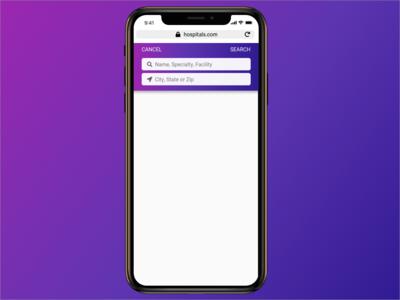 Mobile Search ux designer gradient design gradient color ios ui app ui  ux mobile app design search search bar ux design ui iphone app iphone x mobile app branding