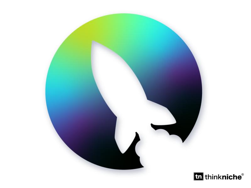 Quasar Logo illustraor illustration branding ui gradient logo design logo icons space quasar dailylogochallange rocketship rocket ship rocket logo