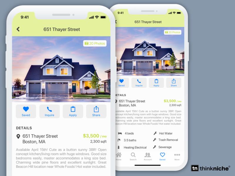 Home Renal App mobile app design profile design house industries ios design rental app rental home app real estate branding real estate ios ui app iphone app mobile iphone x branding