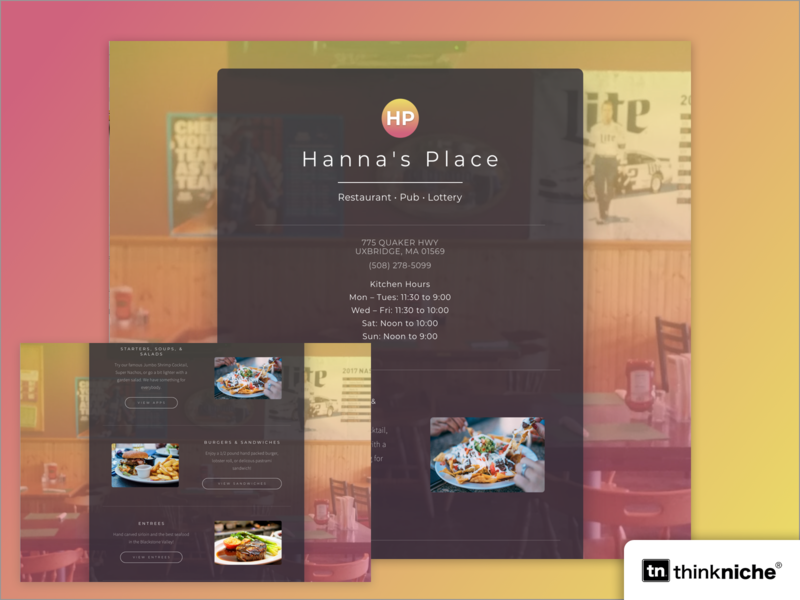 Hanna's Pub ui photography branding food logo gradient brand design branding agency branding restaurant branding restaurant design website restuarant