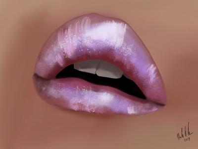 Lips : digital painting ipad art painting face app illustration lips watercolor ipad pro digital painting procreate