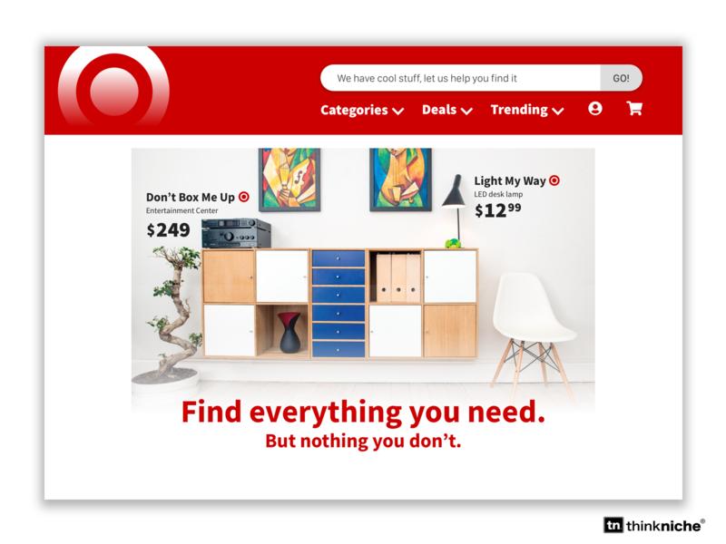 Target Landing Concept website concept branding shop design product catalog search ui design web design retail splash screen splashpage homepage landing page shopping target