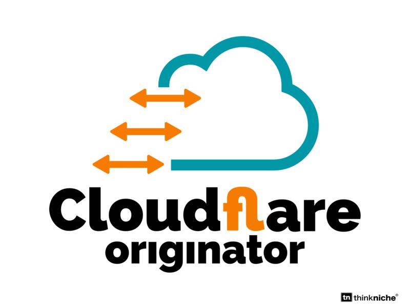 Cloudflare Originator Logo brand identity branding concept icon illustration design typography web  design dev cloud brand branding logo