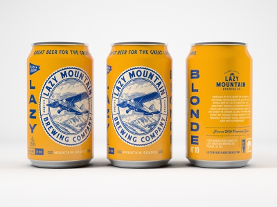 LMB Co. Lazy Blonde illustration beer branding craftbeer beer can beer label package design