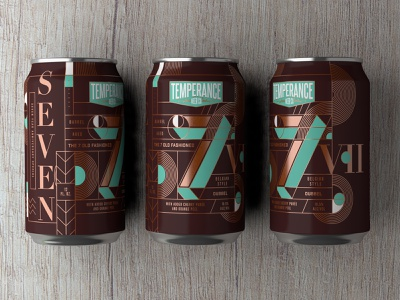 The 7 Old Fashioned Dubbel - Temperance Beer Co. beer packaging craftbeer packaging beer branding beer label package design