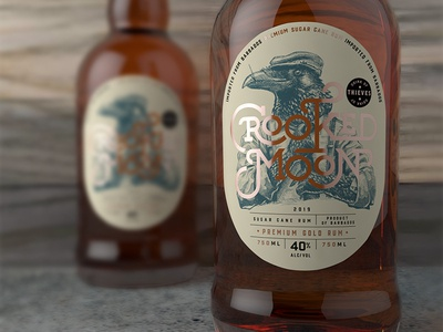 Crooked Moon - Gold Rum Label