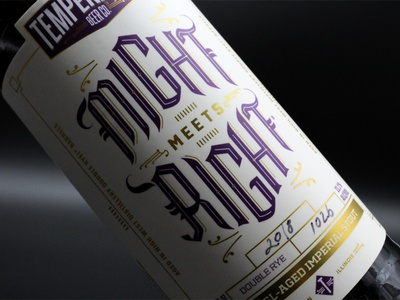 Might Meets Right - Temperance Beer Co. Imperial Stout beer label design beer label beer packaging package design beer branding