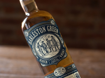 Harleston Green Scotch Whisky bottle label liquor branding packaging package design whisky liquor label