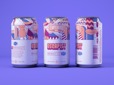 Escapist IPA - Temperance Beer Co. illustration packaging package design craftbeer beer branding beer can beer label design