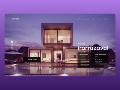 Glass and Construction Company company branding glasses webdesign web ui ux typography design branding interface clean ui clean adobe xd