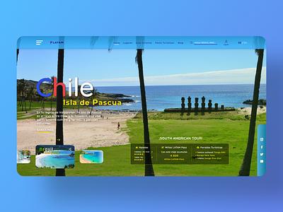 South American Travel Concept south america sur america chile travel desktop design uidesign uxdesign web design web interface concept interface clean ui clean photoshop adobe xd