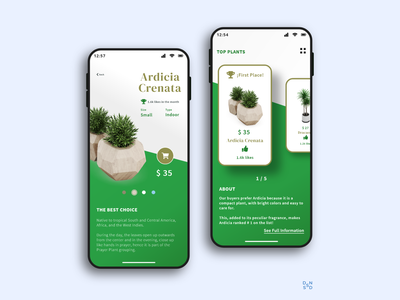 Plants Application #_thedesignproject Day 03 / 30 plants ui design uxdesign chile app design app uidesign concept clean ui clean interface adobe xd