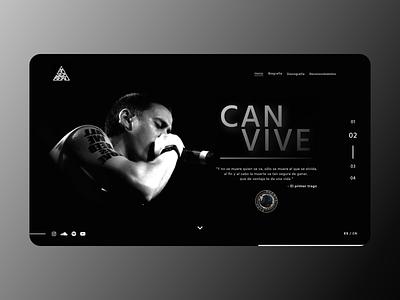 Can Vive #_thedesignproject Day 04 / 30 chile desktop design canserbero venezuela uxdesign uidesign design concept clean interface adobe xd