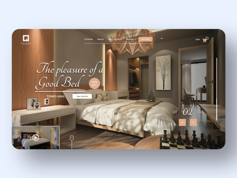 Best Bed #_thedesignproject Day 05 / 30 website web design clean ui clean desktop design chile uidesign uxdesign concept interface adobe xd