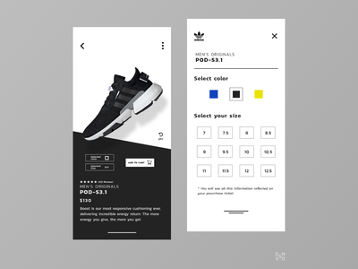 Adidas Application #_thedesignproject Day 08 / 30 chile clean ui app app design clean concept uidesign uxdesign minimalism interface adobe photoshop adobe xd