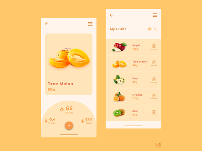 Fruit Application #_thedesignproject Day 10 / 30 design app design app clean ui chile uxdesign uidesign concept clean interface adobe photoshop adobe xd