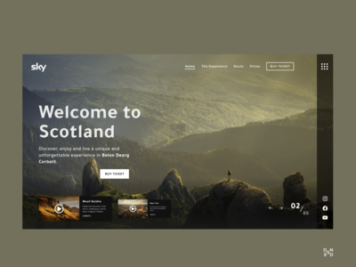 Travel Website #_thedesignproject Day 10 / 30