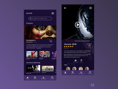 Movie's Application #_thedesignproject Day 14 / 30 design inspiration mobile design app design app clean ui chile uxdesign uidesign concept interface adobe xd