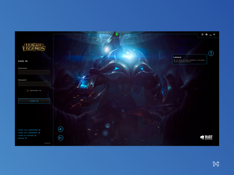 LoL Launcher Redesign #_thedesignproject Day 15 / 30 design inspiration leagueoflegends desktop design design clean ui clean chile uxdesign uidesign concept interface adobe xd