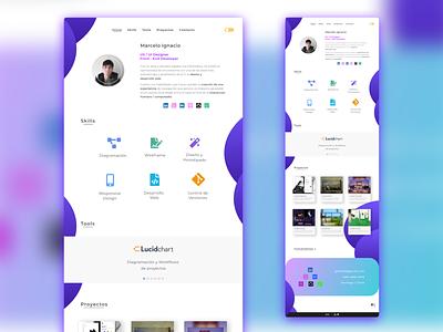 New portfolio design 🔥 redesign flatdesign web design desktop design clean ui clean chile uxdesign uidesign interface adobe xd