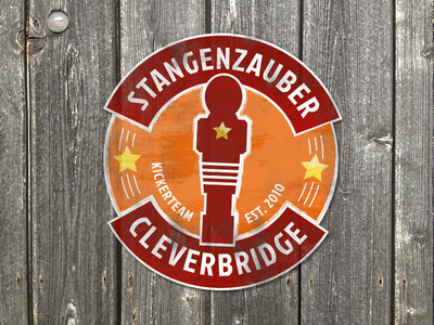 Stangenzauber Cleverbridge Logo sticker design foosball kicker logos logo logodesign tischfussball