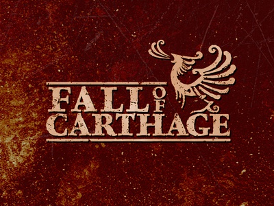 Fall Of Carthage Logo  logo logodesign metal band music typography