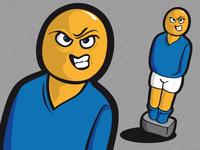 soccer dude illustration