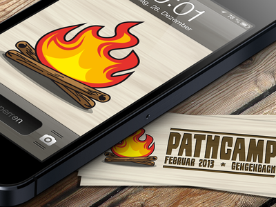 pathcamp Logodesign (iPhone bg & moocards) moocards logos logodesign pathcamp fire campfire