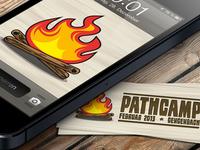 pathcamp Logodesign (iPhone bg & moocards)