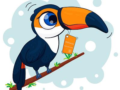 Toucan vector illustration vectorart toucan cute illustration vector illustration cute cute animal cute art childrens illustration animals character