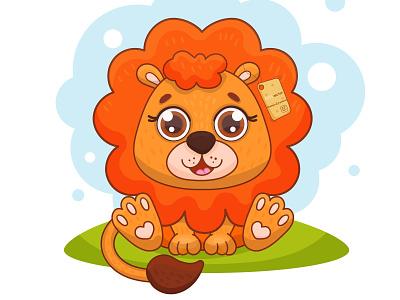 Leo cute character illustrations childrens illustration vector illustration illustration art ai illustration cute illustration cute animals cute art animal animals leo