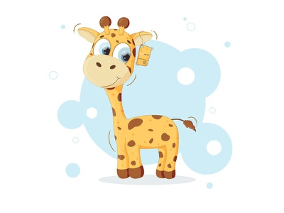 giraffe cute art children childrens illustration childrens book character design cute illustration cute animal artwork art animal animals character illustration art vector illustration illustration illustrator vector art vector cute giraffe