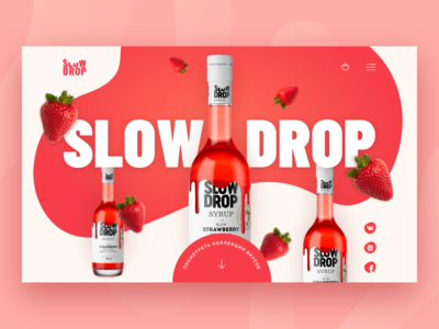 Сoncept landing page for bar syrups