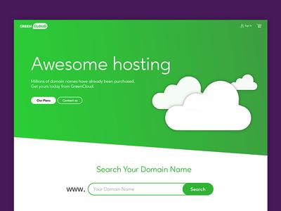 GreenCloud Landing Page