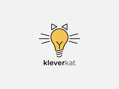 Kleverkat Logo typography branding logo illustration design