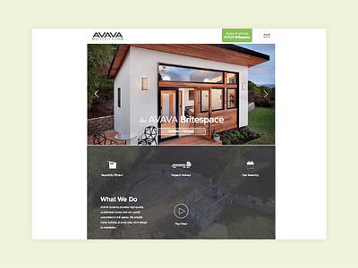 AVAVA Systems Website icon ux ui layout website concept website design website illustration design