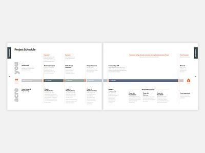 Project Timelines information design ux branding brochure design typography layout diagramming design